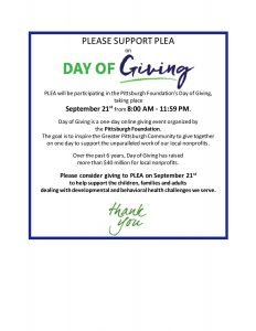 Day of Giving - PLEA